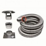 "ENSEMBLE DE GAINE FLEXIBLE INOX VORTEX 6""Ø X 25' POUR ENCASTRABLE"