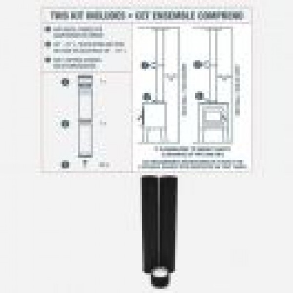 """6"""" VORTEX TO-THE-CEILING DOUBLE WALL PIPE KIT"""