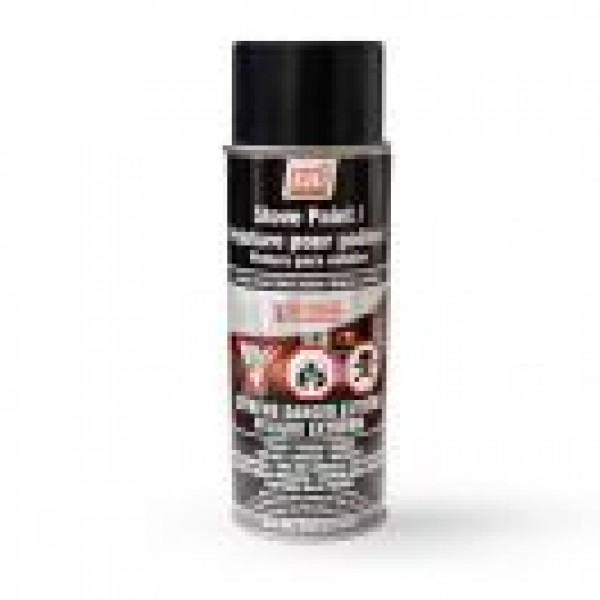 SATIN BLACK STOVE PAINT - 342 g (12oz) AEROSOL