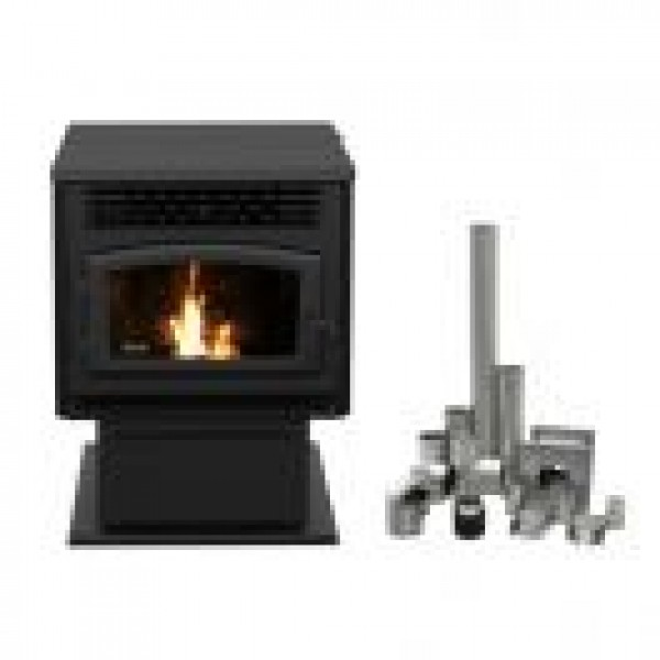 "DROLET - ECO-55 PELLET STOVE WITH 3"" GROUND FLOOR KIT"
