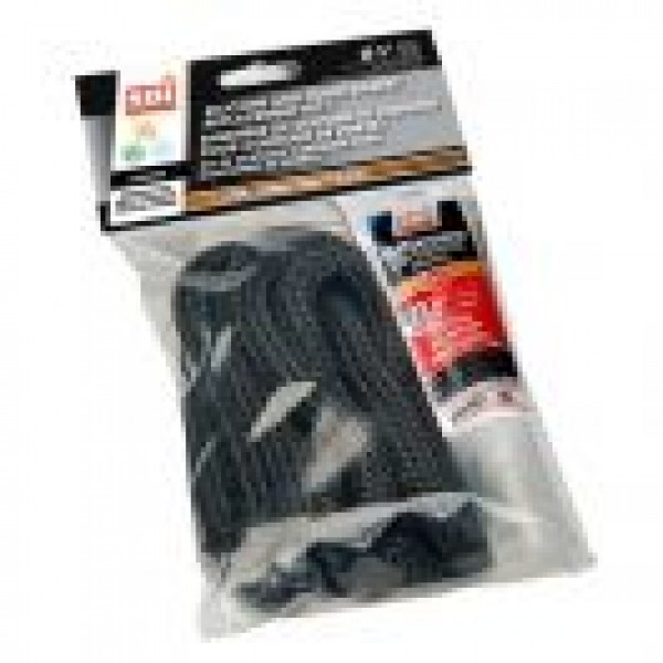 SILICONE AND 1/4'' X 1/2'' X 8' BLACK DOOR GASKET KIT