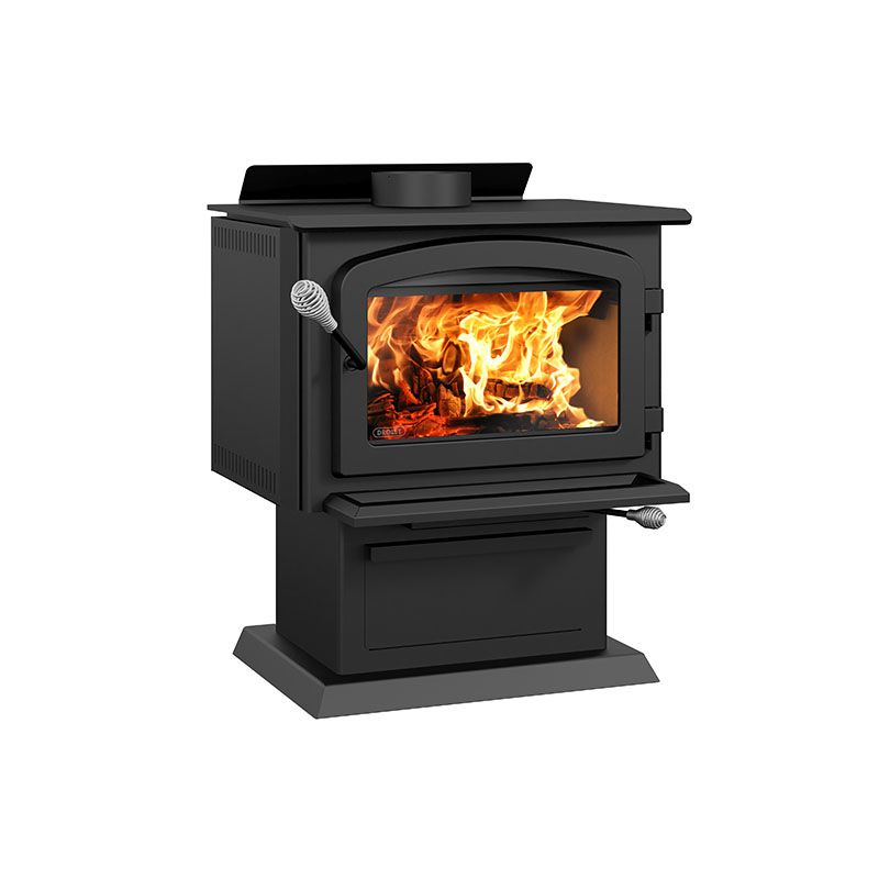 DROLET BLACK COMB DB02811 High Efficiency wood stove EPA certified