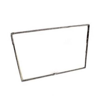 "10 3/16"" X 17 1/8"" CERAMIC GLASS WITH GASKET WITH FLAME LOGO"