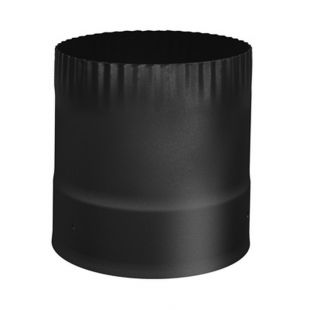 6'' STOVE CONNECTOR SINGLE WALL BLACK