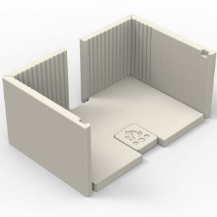 MOULDED REFRACTORY PANEL KIT FOR MINIMALIST BASE AND INSERT