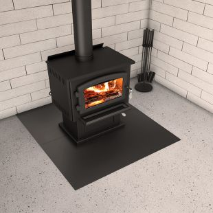 "46 3/4'' X 54"" BLACK STEEL HEARTH PAD"