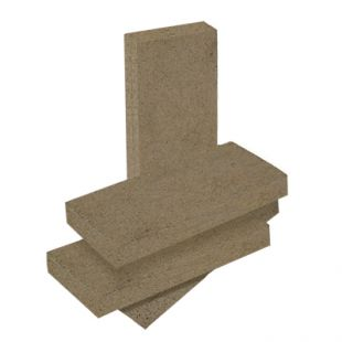 """4 1/2'' X 9"""" X 1 1/4'' HIGH DENSITY REFRACTORY BRICK"""
