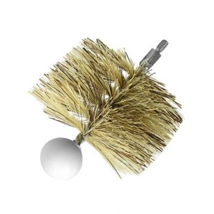 "4"" ROUND PELLET STOVE BRUSH (1/4""-20 THREAD)"