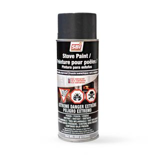 METALLIC CHARCOAL STOVE PAINT - 342 g (12oz) AEROSOL