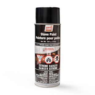 METALLIC  BLACK STOVE PAINT-342 g AEROSOL