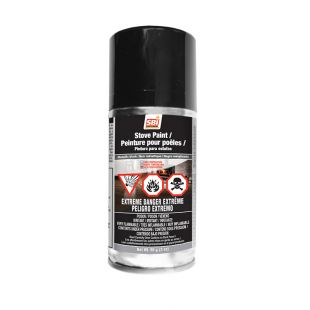 METALLIC BLACK STOVE PAINT - 85 g (3oz) AEROSOL