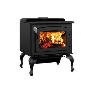 DROLET - ESCAPE 1800 WOOD STOVE ON LEGS - BLACK DOOR