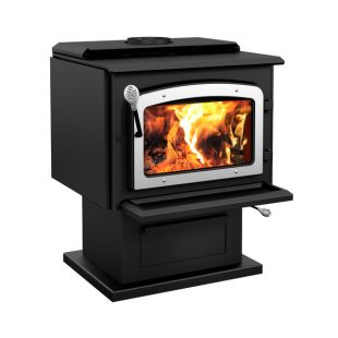 DROLET - ESCAPE 1800 WOOD STOVE WITH BRUSHED NICKEL DOOR