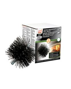 "203 mm ROUND BRUSH WITH POLYPROPYLENE BRISTLES (3/8"" NPT)"