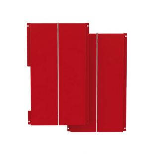RED ENAMELED DECORATIVE SIDE PANELS