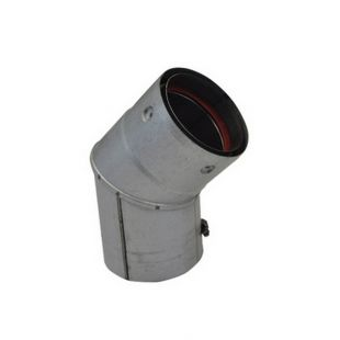 "VORTEX 3"" X 45° PELLET ELBOW (UNPAINTED)"