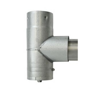 "VORTEX 4"" TO 3"" PELLET STOVE TEE AND CAP ADAPTER"