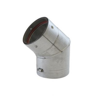 "VORTEX 4"" X 45° PELLET ELBOW (UNPAINTED)"